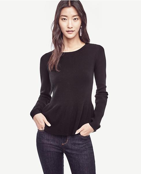 Ann Taylor Peplum Pullover shirt