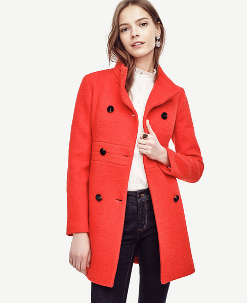 Ann Taylor Petite Banded Statement Coat