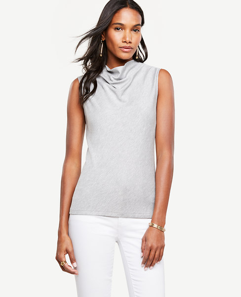 Ann Taylor Stand Cowl Neck Top