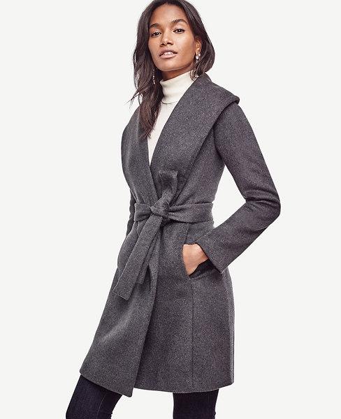Ann Taylor Tall Doublefaced Wrap Coat