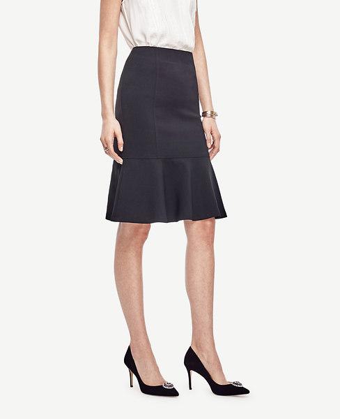 Ann Taylor Petite Fluted Midi Skirt