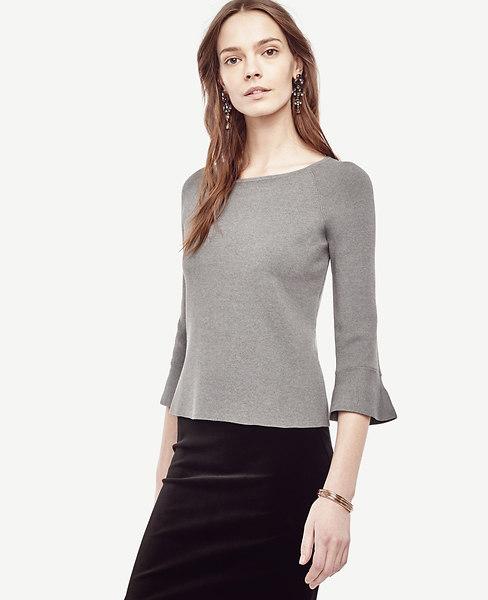 Anntaylor Ruffle Cuff Sweater