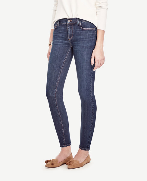 Ann Taylor Curvy Skinny Ankle Jeans