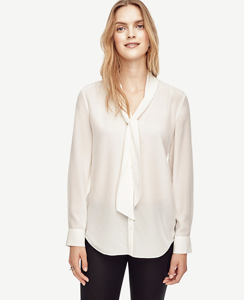 Removable Tie Silk Blouse