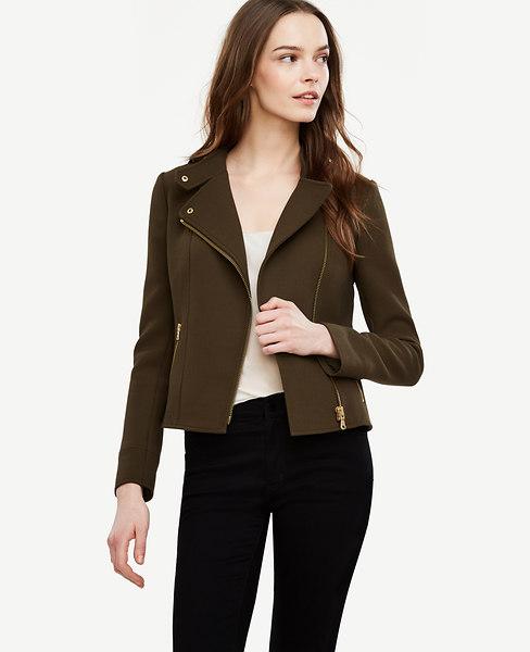Ann Taylor Flounce Moto Jacket