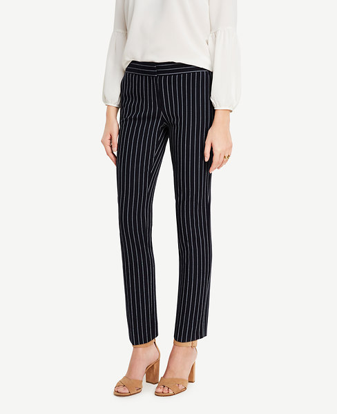 Ann Taylor Kate Striped Everyday Ankle Pants