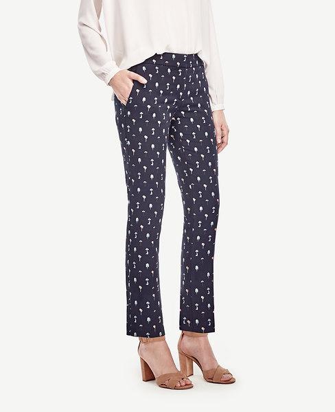 Ann Taylor Kate Tree Jacquard Everyday Ankle Pants