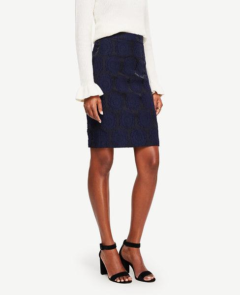 Ann Taylor Clip Jacquard Skirt