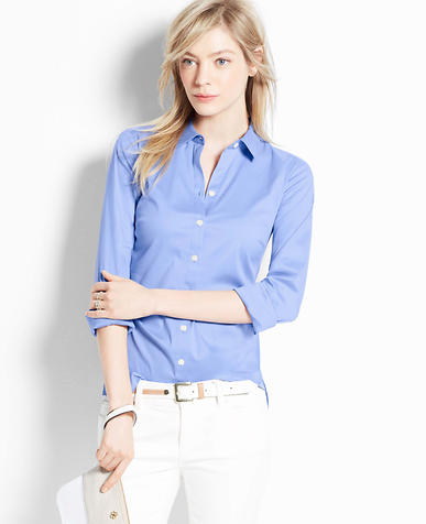 Image of Petite Perfect Long Sleeve Button Down Shirt