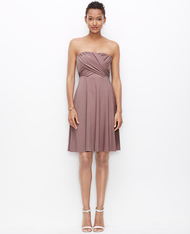 Image of Jersey Shirred Strapless Dress