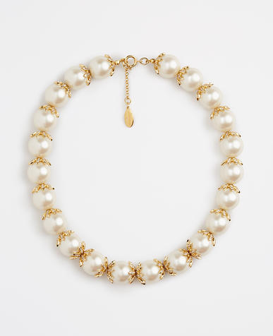 Image of Oversized Pearlized Necklace