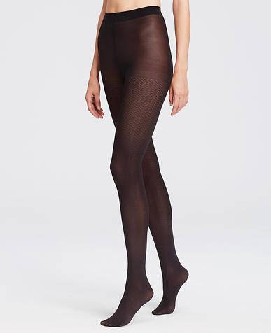 Image of Sheer Herringbone Tights