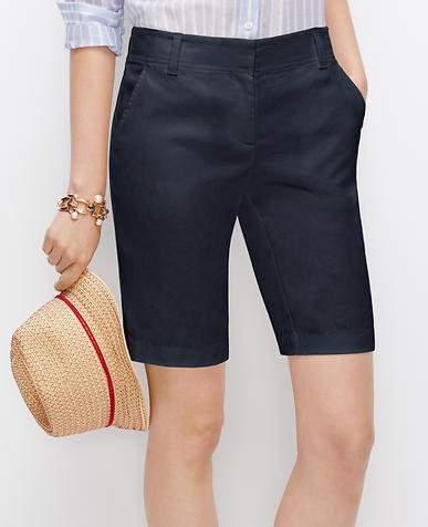 Image of Linen Blend Walking Shorts