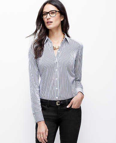 Image of Wide Stripe Perfect Shirt
