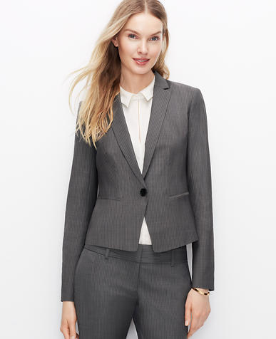 Image of Tall Pinstripe One Button Jacket