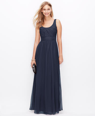 Image of Petite Silk Georgette Sleeveless Gown