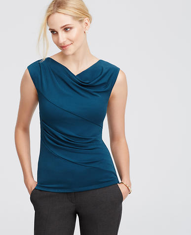 Image of Crepe Drape Neck Top