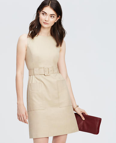 Image of Belted Sheath Dress
