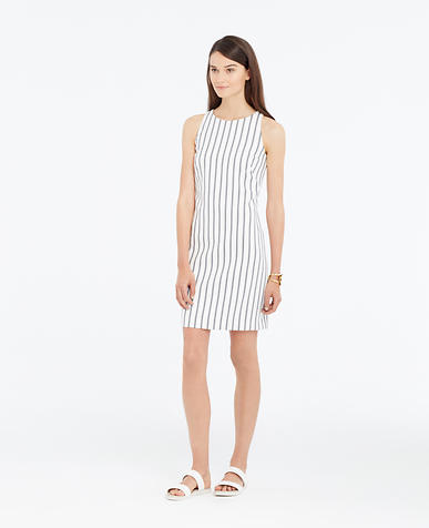 Image of Petite Striped Twill Shift Dress