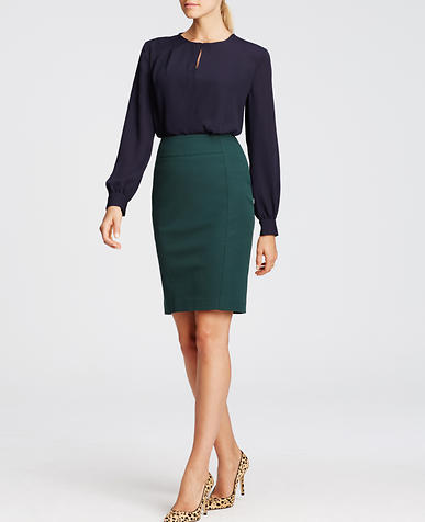 Image of Seamed Pencil Skirt