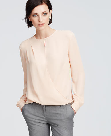 Image of Georgette Wrap Blouse