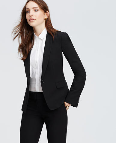 Image of Petite All-Season Stretch One Button Jacket
