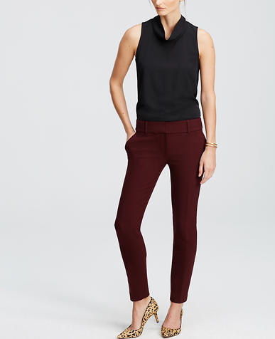 Image of Double Cloth Ankle Pants