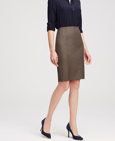 Image of Petite All-Season Stretch Pencil Skirt