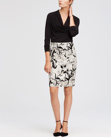 Image of Petite Floral Pencil Skirt