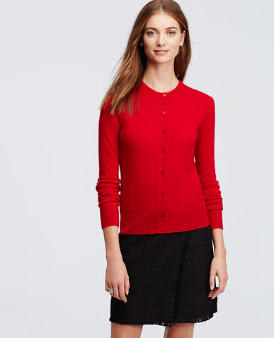 Image of Cashmere Crew Neck Cardigan
