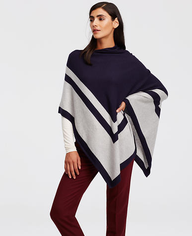 Image of Colorblock Luxe Poncho