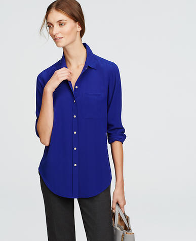 Image of Petite Silk Shirt