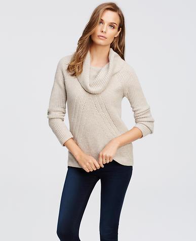 Image of Petite Cowl Neck Sweater