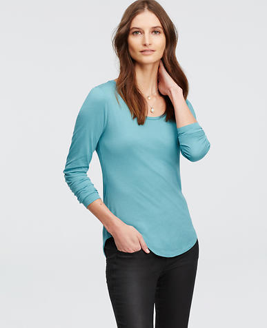 Image of Scoop Neck Long Sleeve Tee
