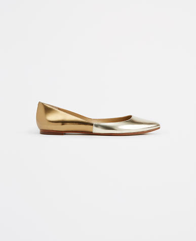 Image of Lowey Metallic Leather Flats