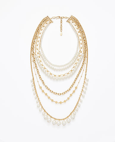 Image of Pearlized Pave Fireball Statement Necklace