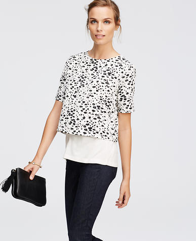 Image of Floral Silhouette Tiered Tee
