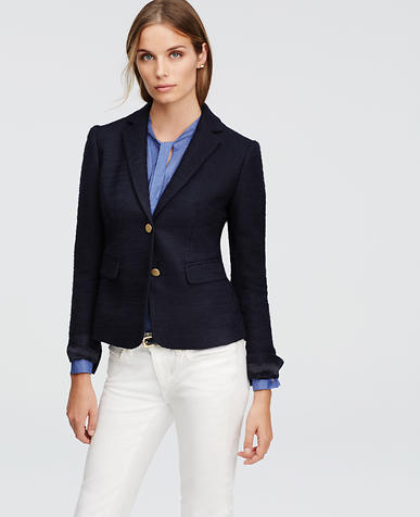 Image of Boucle Cropped Blazer