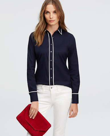 Image of Contrast Tipped Perfect Shirt