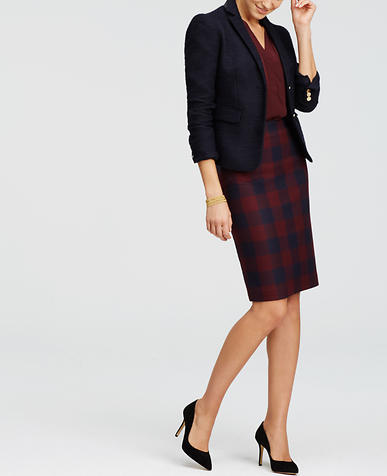 Image of Checkered Pencil Skirt
