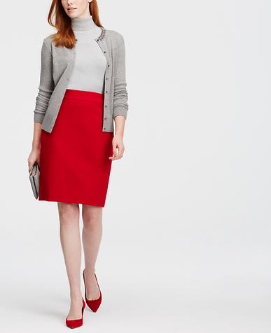 Image of Crepe Pencil Skirt
