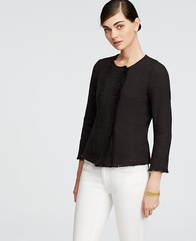Image of Tweed Fringe Jacket