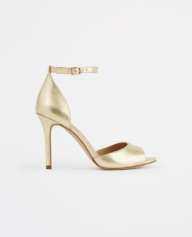 Image of Lucille Leather Peeptoe Sandals