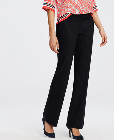 Image of Devin Tropical Wool Pinstripe Trousers
