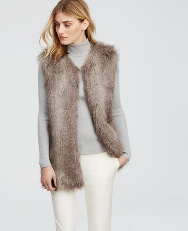 Image of Faux Fur Long Vest