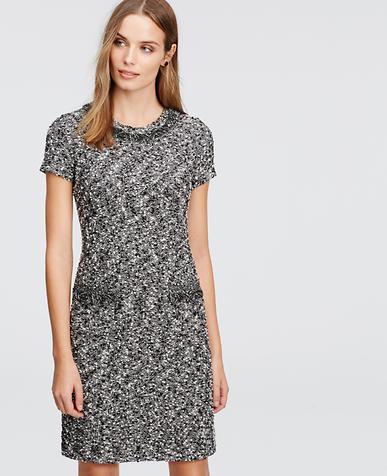Image of Speckled Fringe Sweater Dress