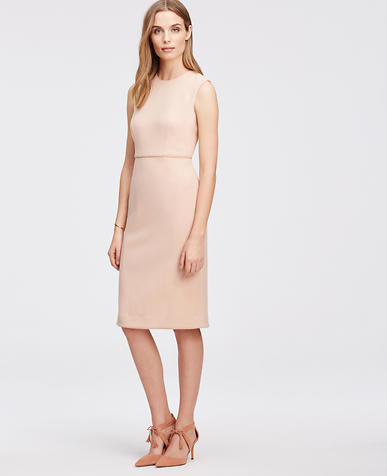 Image of Sleeveless Piped Sheath Dress