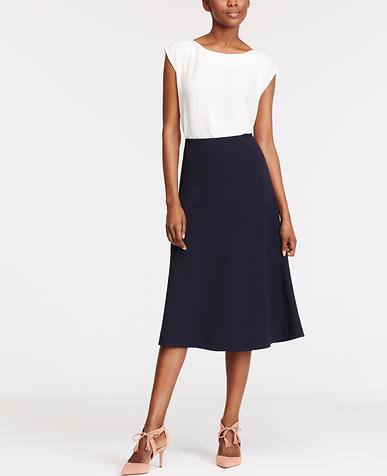Image of Flared Knit Skirt