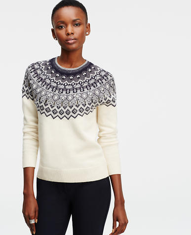 Image of Embellished Fairisle Sweater