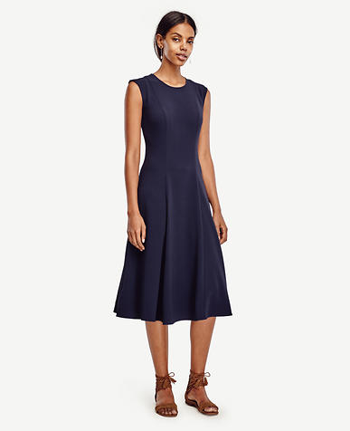 Image of Crepe Midi Dress